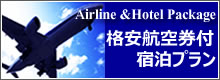 選べる格安航空券付き宿泊プラン